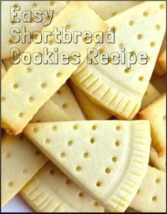 Easy Shortbread Cookies Recipe is delicious and easy to make dessert, snack and traditional Christmas treat. Classic shortbread cookies recipe uses only three ingredients: salted butter, powdered sugar and flour. If you add a hint of vanilla extract, you'll have the best shortbread cookies ever. #delicious #cookies #snacks #desserts #kidslike Easy Shortbread Cookie Recipe, Cookie Recipes, Delicious Cookies, Fun Cookies, Easy To Make Desserts, Plastic Wrap, Parchment Paper, Special Recipes, Salted Butter
