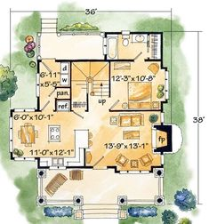 Browse country house plans with photos. See thousands of plans. Watch walk-through video of home plans. Small Log Home Plans, Small Log Homes, Log Cabin Floor Plans, Cabin House Plans, Mountain House Plans, Log Cabin Homes, Country House Plans, Mountain Cottage, Mountain Cabins