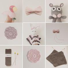 My collection   #MariaHandmadeCrochet #crochet #crocheted #hæklet #hekle #hekling #haken #häkeln #virkad #virkning #baby #babyblanket #kajbojesen #hippo #kanin #bunny #yarn #love #follow #me #handmade #homemade #garn #bomuld #diy #grannysquare #amigurumi #kidsshop #f4f #l4l by haeklemaria