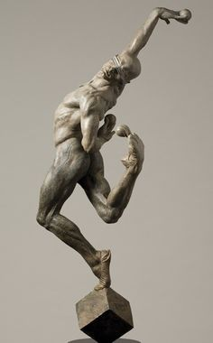 "Richard MacDonald, ""Leap of Faith, Half Life"" - 2006 Bronze Edition of 50 - 49 x 16 x 23 inches"