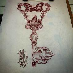 Disney key drawing #TattooIdeasDisney