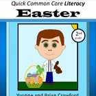 Easter Quick Common Core Literacy is a packet of ten different worksheets featuring an Easter theme focusing on the English grammar and more.  You ...
