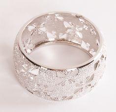 Silver Bangle Bracelet Encrusted in SWARVOSKI Crystals <3