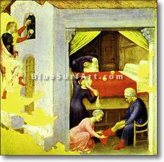 St. Nicholas and the Three Gold Balls - £124.99 : Canvas Art, Oil Painting Reproduction, Art Commission, Pop Art, Canvas Painting