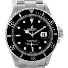 Rolex Submariner Date Mens Stainless Steel Watch 16610 Year 2002
