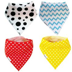 Bandana Drool Bibs for Infants Toddlers - Absorbent Cotton and Fleece with Adjustable Snaps - Bandana Bib for Teething Drooling Feeding - Baby Gift - Baby Bibs for Boys Girls Unisex by ThinkCUTE Toddler Boy Gifts, Unisex Gifts, Baby Wraps, Drool Bibs, Happy Kids, Mom And Baby, Baby Bibs, Baby Feeding, Baby Care
