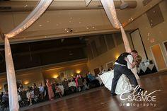 Wedding kiss in the Grand Ballroom at The Silo.  #WeddingKiss