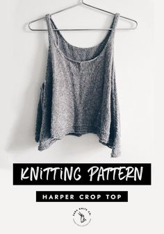 Cropped Tops, Crop Top Pattern, Crochet Crop Top, How To Purl Knit, Knitting Patterns Free, Knit Patterns, Boho, Etsy, Sewing