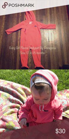 c878d9a984d8b Girls Pink Fleece Patagonia Bodysuit This fleece bodysuit keeps your baby  girl comfortable and warm.