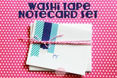 Washi Tape Notecard Set, looks like perfect thank you cards