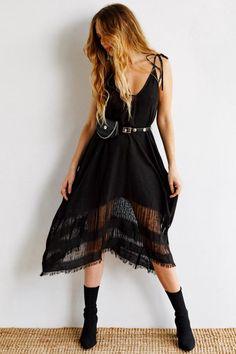 Kiriko Maxi Dress - Black Silk The Freedom State
