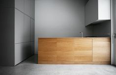 Slick finishes in this minimalist kitchen.