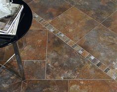 Fossil tile by Ascot Ceramiche in interior