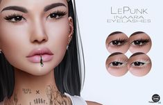 bc9fec868e6 Inaara Eyelashes Applier For Catwa Head July 2018 Group Gift by LePunk