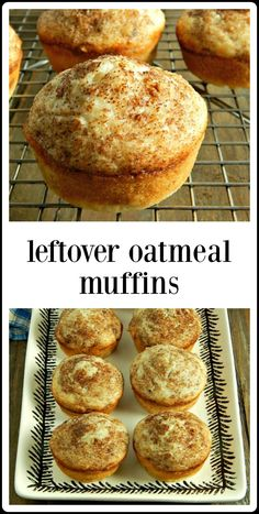 Leftover Oatmeal Muffins are a good, honest everyday muffin. Easy, fast, healthy and cheap, they're a great way to use up any cooked oatmeal. The Oatmeal, Oatmeal Bread, Oatmeal Cake, Oatmeal Muffins, Zucchini Muffins, Healthy Muffins, Healthy Snacks, Healthy Cheap Recipes, Healthy Foods