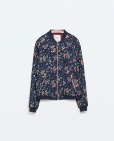 FLORAL BOMBER JACKET from Zara