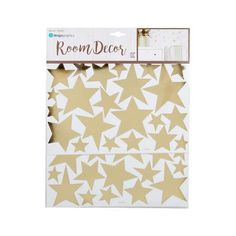 Gold Foil Stars Peel and Stick iDesign Wall Decals, 2 Sheets at Living Canada