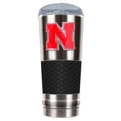 Nebraska Cornhuskers 24-Ounce Draft Stainless Steel Tumbler, Black