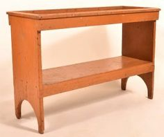 Lot: Pennsylvania Softwood Bucket Bench., Lot Number: 0819, Starting Bid: $250, Auctioneer: Conestoga Auction Company Division of Hess Auction Group, Auction: Harry B. Hartman Estate - Session VI, Date: November 21st, 2015 UTC
