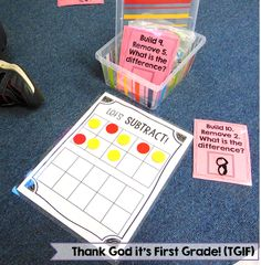 Subtraction for 1st Grade! {Whats the Difference?} - Thank God Its First Grade (TGIF!)