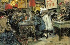 The Athenaeum - Chinese Restaurant (Everett Shinn - )