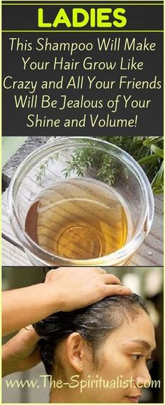 Ladies, This HOMEMADE Shampoo Will Make Your Hair Grow Like Crazy (All Your Friends Will Be Jealous of Your Shine and Volume!) ..