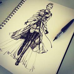 http://kasiagorgeous.tumblr.com/post/112080405833/runway-fashionillustration-with-pentel