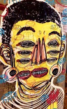 Street art, by M.Dutra, Brazil, 2015 (LP)