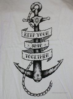 "The only anchor tattoo I'd get. Tillman Project — ""Shipwrecked"" Limited Run T-Shirt (Womens)"