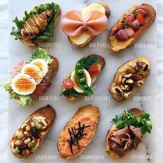 10 healthy and easy toast creations from avocado to New York style, made with simple mouthwatering ingredients, perfect for breakfast, lunch and even dinner! Food Platters, Food Dishes, Healthy Snacks, Healthy Recipes, Food Decoration, Cafe Food, Appetizer Recipes, Food Inspiration, Food Photography