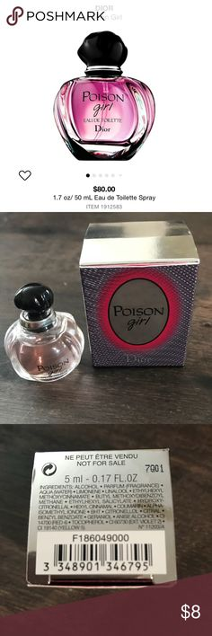 Dior poison girl mini perfume 5ml Brand new Unused Bundle for lower price  Create your own makeup bundle and send over an offer! OVER 60 FULL AND TRAVEL SIZED ITEMs  Poison Girl is a floral gourmand that seduces with a fruity floral top note and the addictive base. A pairing of icy-cool and juicy oranges complement each other while armfuls of sensual flowers introduce a spirited hot and cold ambiance. Lastly, tonka bean and vanilla notes spread their sensual and bittersweet caress. Dior…
