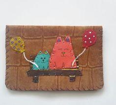 balonlu kediler cüzdan