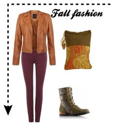"""Fall fashion"" by monaline ❤ liked on Polyvore featuring moda, 7 For All Mankind i SOREL"
