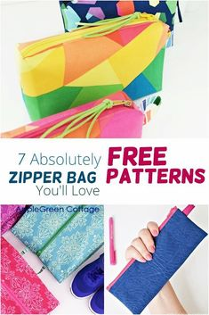 Coin Purse Pattern, Bag Pattern Free, Pouch Pattern, Bag Patterns To Sew, Sewing Projects For Beginners, Sewing Tutorials, Sewing Tips, Sewing Ideas, Diy Bag Crafts