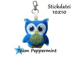 Stickdatei+Schlüsselanhänger+ITH+10x10++von+TeamPeppermint+auf+DaWanda.com