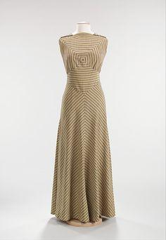 Dry Goods Economist 1935  Elizabeth Hawes  (American, 1903–1971) cotton, metal, silk