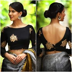 11 Trending Blouse Designs In 2019 That Will Impress You Source by bckfranzis Our Reader Score[Total: 0 Average: Related Latest Trending Silk Saree Blouse Designs - candlesNew Look Indian Blouse Designs, Saree Jacket Designs, Saree Blouse Neck Designs, Fancy Blouse Designs, Choli Designs, Latest Blouse Designs, Boat Neck Saree Blouse, Saree Blouse Long Sleeve, Sleeveless Saree Blouse