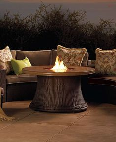Your summer parties will go late into the evenings when you're gathered around the gorgeous and warming Pasadena Fire Table, complete with ample space for cocktails or plates.