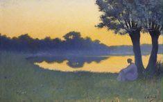 Alphonse Osbert - Au coucher du soleil,1894