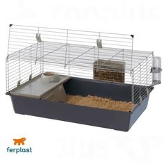 #IndoorGuineaPigCage Dwarf Rabbit Hutch Rodent Hayrack Bottle House Bowl Pet