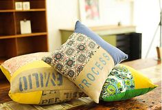 Casuasakks: coffee sack cushions made by Randi Wagner » Lost At E Minor: For creative people