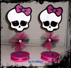 Monster High Centerpieces / SET OF 2 / Monster High Inspired / Monster High Decoration / Monster High Party / Monster High Skull. $24.00, via Etsy.