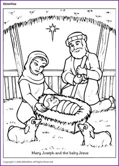 coloring pages baby jesus printable - christmas native worksheet dot to dot the holy family