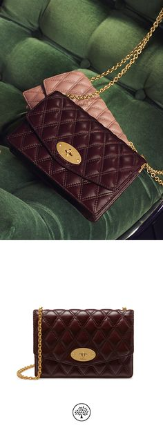 Shop the Small Darley in Burgundy Quilted Smooth Calf Leather at Mulberry.com. The Small Darley is iconic with the Mulberry signature Postman's Lock and is perfect for carrying essentials or used to keep valuables secure inside an everyday bag. It can be transformed into a mini bag thanks to its detachable chain strap.