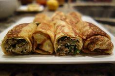 Cannelloni with zucchini Unique Recipes, Ethnic Recipes, Cannelloni, Good Food, Yummy Food, Crepe Recipes, Vegan Pizza, Eat Smarter, Crepes