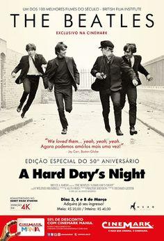 """É fã dos Beatles? Nos dias 3, 6 e 8 de março, a Rede Cinemark irá exibir """"A Hard Day's Night"""", filme da banda britânica remasterizado em 4K. Em Goiânia, as sessões serão no Cinemark do Flamboyant. Acesse o site www.arrozdefyesta.net e saiba como garantir o seu ingresso antecipadamente."""