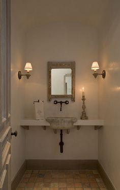 Simple powder room