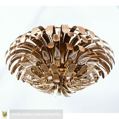 Gotta double-spaced this  Mid Century Modern / Hollywood Regency monumental solid brass 21 light chandelier.  Originally From the Dunes Hotel(opened in 1955) Las vegas and saved before the 1993 hotel demolition.  The only other one available was obtained by a metal scrapper and probably turned into a kitchen faucet. Unknown designer.  Contact @midcenturysacramento for pricing. #midcenturymodern #midcentury #hollywoodregency #regency #brass #interiordesign #interior #design #chandelier #50s…