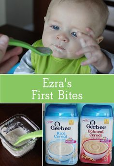 Ezra's First Bites with Gerber Cereal   Ellie And Addie - #GerberCereals #ad https://ooh.li/8e0271e