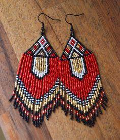 Orecchini di perline gioielli artigianali stile etnico